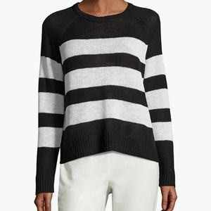 Eileen Fisher black and white stripe sweater